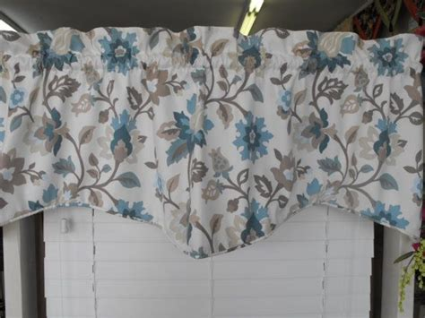 Light Teal Valance Window Valance Light Background Teal Taupe Mocha