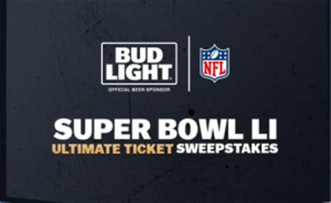 Anheuser Busch Sweepstakes - anheuser busch bud light super bowl li ultimate ticket giveawayus com
