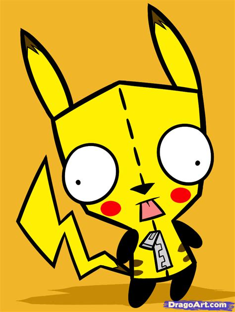 How to Draw Pikachu Gir, Step by Step, Nickelodeon