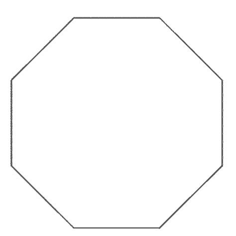 octagon template free coloring pages of octagon shape