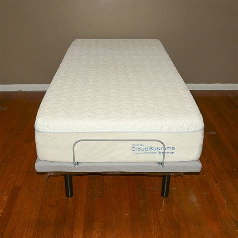 tempur pedic adjustable bed frame with cloudsupreme mattress ebth