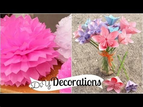 how to make room decorations diy room decorations tissue paper pompoms origami