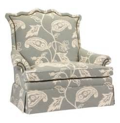 paisley settee beziers french country green paisley upholstered skirted