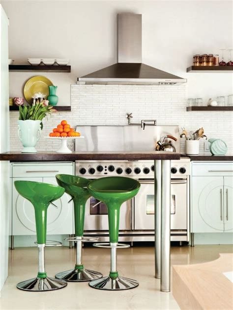 the green stools are a conversation and they re
