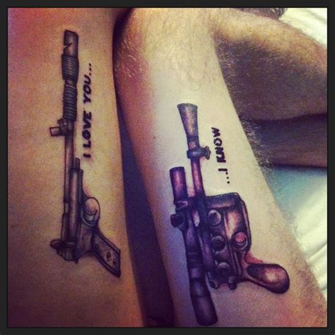 star wars couple tattoos hers and his or his and hers matching wars