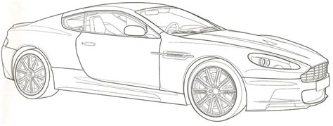 Free Coloring Pages Aston Martin Coloring Pages