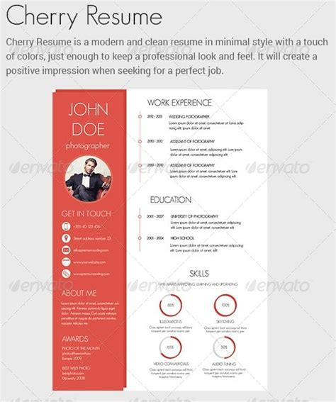 colourful resume templates awesome resume cv templates 56pixels