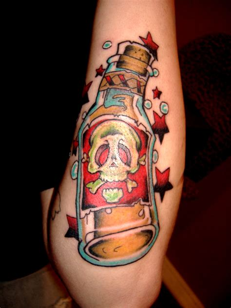 alcohol tattoo gallery for gt traditional bottle
