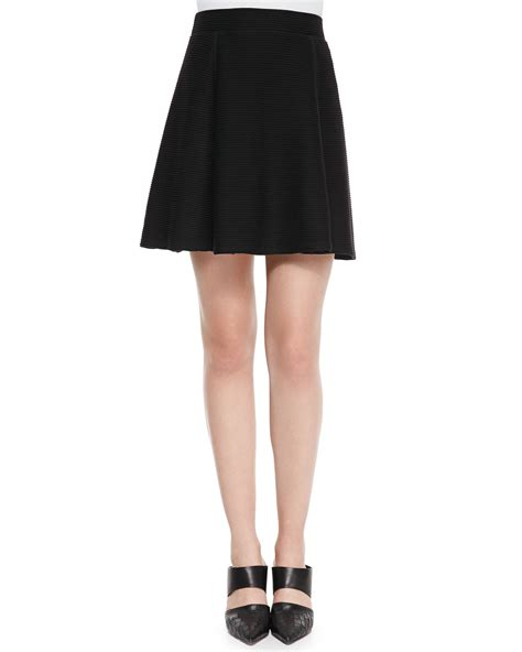 Knit Top A Line Skirt vince ottoman knit a line skirt in black lyst