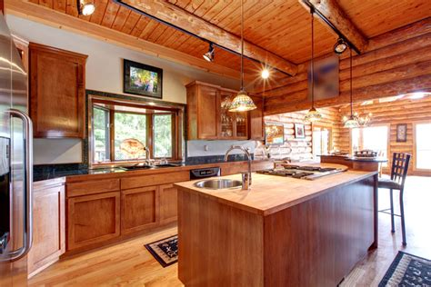 home electrical lighting design log cabin kitchens cabinets design ideas designing idea