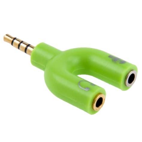 3 5mm stereo headphone green intl 3 5mm stereo to 3 5mm headphone mic splitter