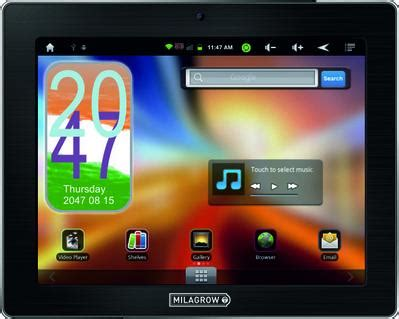 Tablet Advan Vandroid T2i milagrow tabtop actual size image