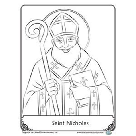 Free Reproducible Coloring Pages Free Reproducible Saint Nicholas Coloring Page From