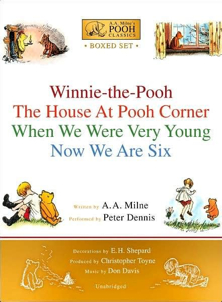 Novel Grafis The House At Pooh Corner A A Milne a a milne s pooh classics boxed set winnie the pooh