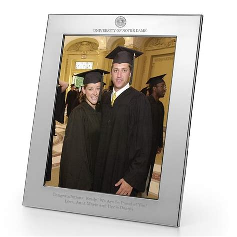 notre dame desk accessories notre dame pewter frame 8x10 graduation gift selection