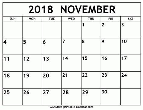 printable calendar november 2017 to december 2018 november 2018 calendar printable journalingsage com
