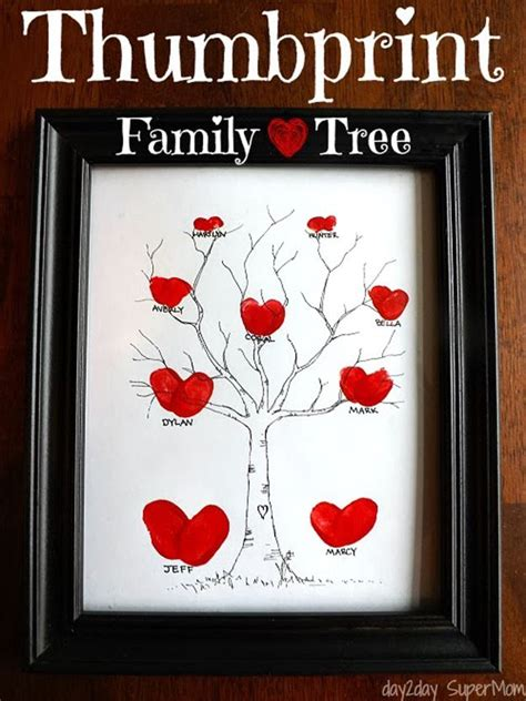 Handmade Family Tree Ideas - 36 mother s day gifts and ideas thumbprint