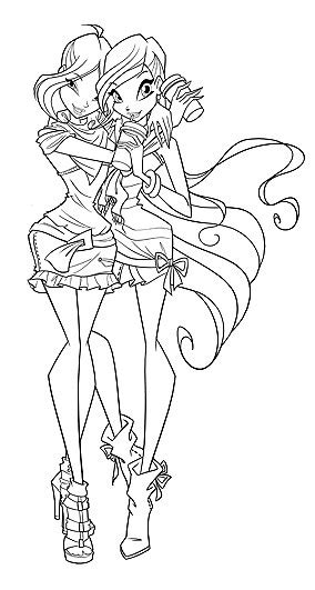 Winx Club Coloring Pages Harmonix Musa
