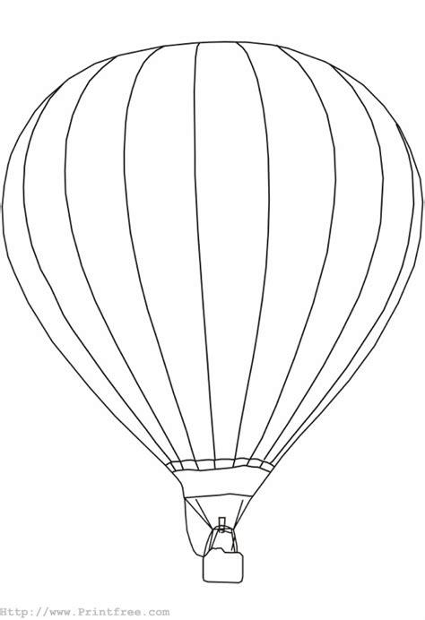 air balloon template air balloon outline coloring home