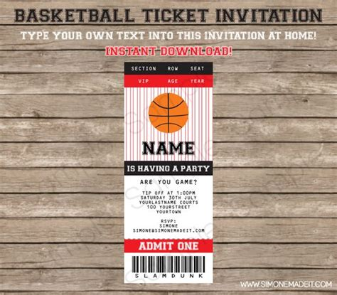 basketball ticket template free 57 best images about bday on portland trail
