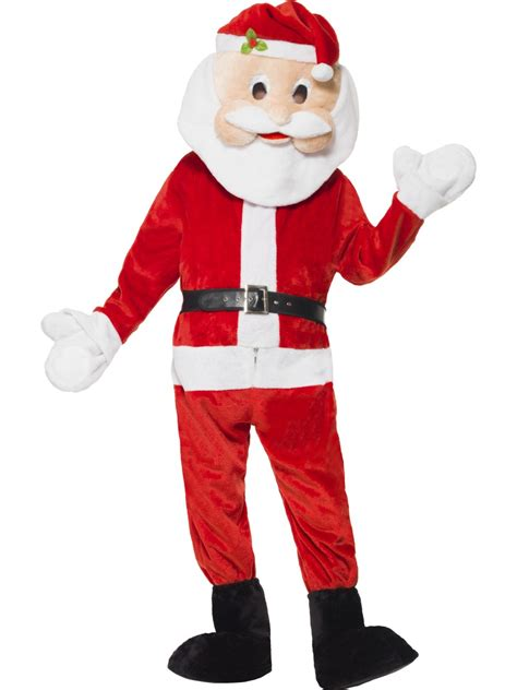 adult deluxe santa mascot costume 39841 fancy dress ball