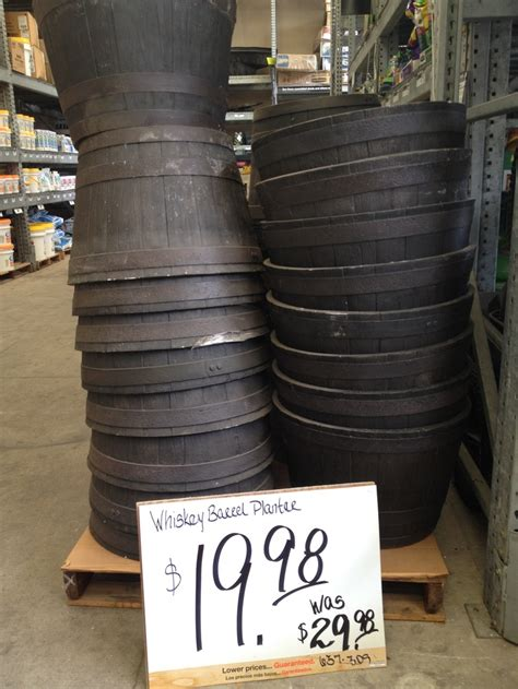 whiskey barrels at home depot now 20 whiskey barrels