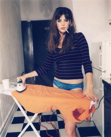 Liv Tyler in Panties, Smoking
