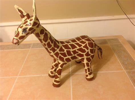 How To Make Giraffe With Paper - paper mache giraffe paper mache