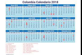Calendario De Colombia A O 2018 Calendario 2018 Fa 231 A O De Calend 225 Rios