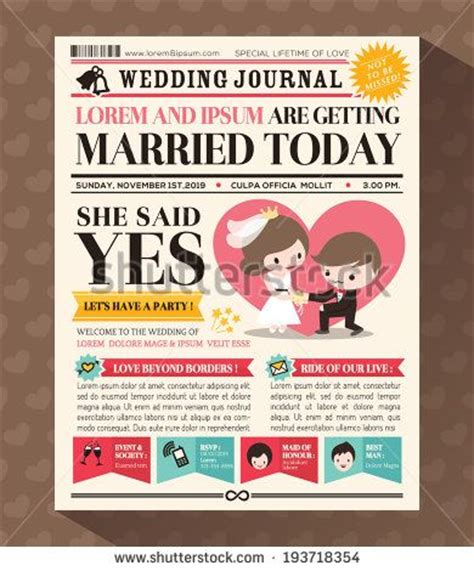 Wedding Newspaper Template by 25 Best Ideas About Wedding Newspaper On Gangster Wedding Unique Invitation