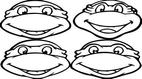 ninja turtle face coloring page turtle face coloring coloring pages