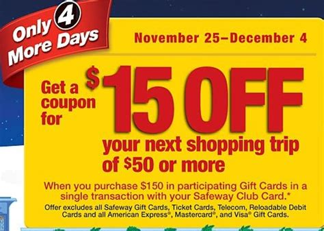 Safeway Gift Card Promotion - safeway spend 150 on gift cards and get 30 back my frugal adventures