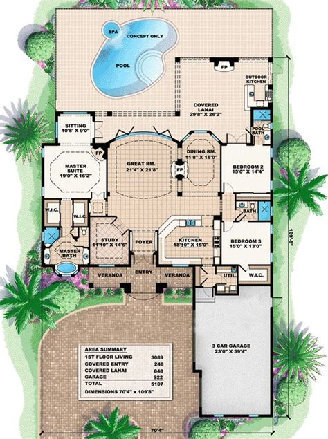great room house plans plan 66226we a true great room house plan luxury house