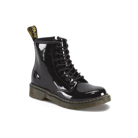 dr martens delaney black patent junior boots 15382003