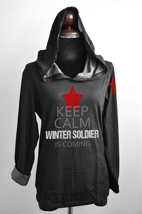 Sweater Soldiern Wars Redmerch bucky barnes black grey t shirt hoodie sleeve