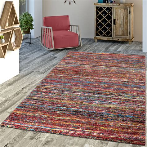 teppich standardmaße designer teppich bunt modern kurzflor mulitcolour moderne