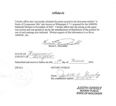 template for an affidavit sle affidavit free printable documents