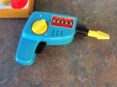Fisher Price Kit Set vintage 1977 fisher price tool kit orange building set drill screws euc other