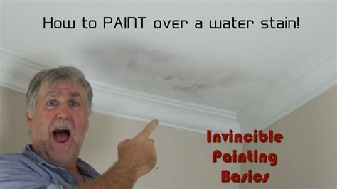 how to remove water stains from painted walls how to paint over water damage one step process and it s