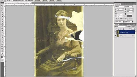 tutorial photoshop old picture adobe photoshop tutorial old photo restoration part 1