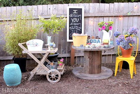 fun backyard party ideas backyard ice cream party summer fun the inspired room