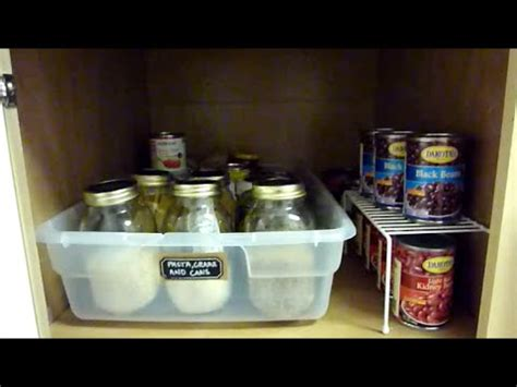 how to organize deep kitchen cabinets pantry organization how to organize deep cabinets youtube