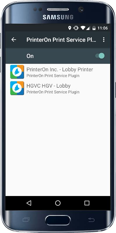 plugin not supported android android printing printeron