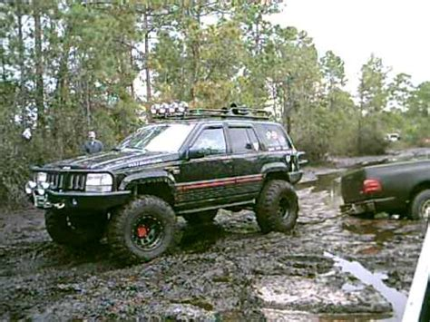 monster jeep grand cherokee monster jeep grand cherokee mudding youtube
