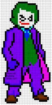 minecraft pixel art templates the joker