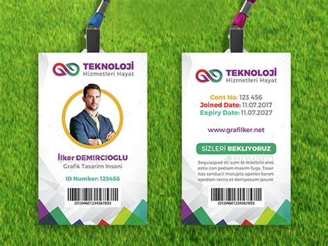 employee id card template design id badge pinterest