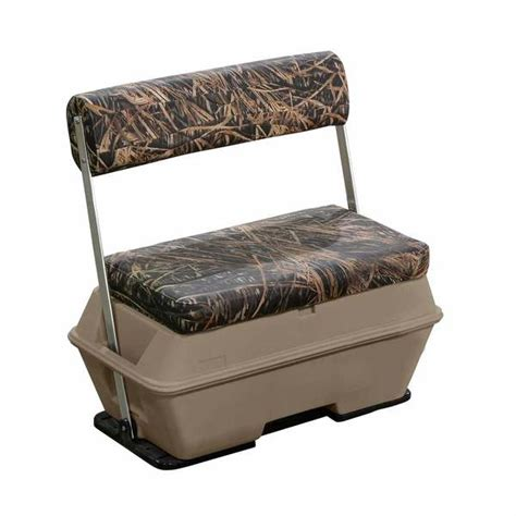 camo boat cooler seat wise seating scout series 70 quart swingback camo pontoon