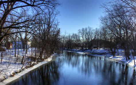 Uw Finder Winter On The Crawfish River Near Elba Wisconsin 19 155 Cold Landscape River