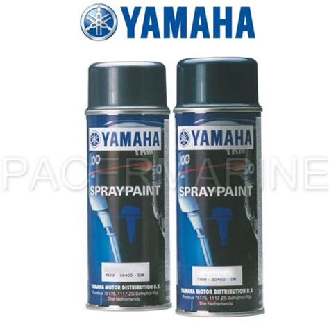 yamaha outboard spray paint bluish grey metallic 1 2 pack pacermarine