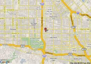 nuys california map map of comfort inn nuys nuys